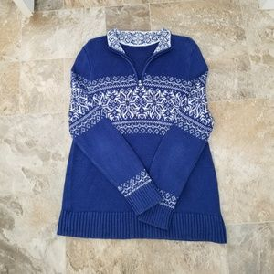 Sweaters - Womans 1/4 Zip Up Sweater